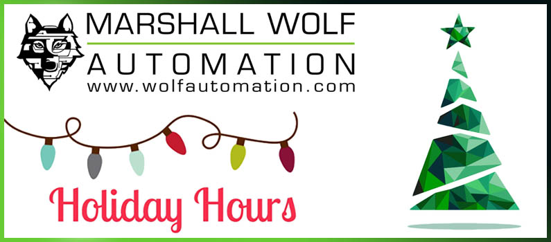 Marshall Wolf Automation 2016 Holiday Hours