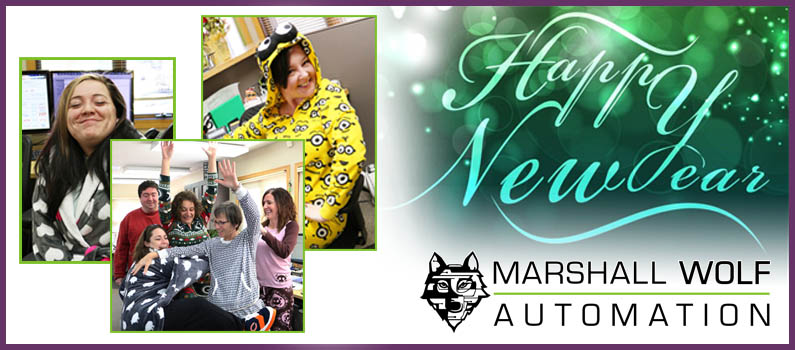 Happy New Year! We celebrate with a Jammie Day at Marshall Wolf!