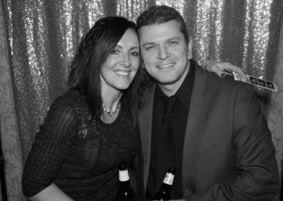 Beckie and Mo looking classy in black and white