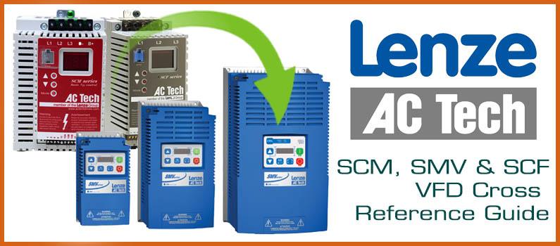 AC Tech Lenze SCM/SCF cross reference guide