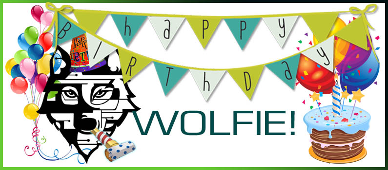 Wolfie Turns One Today!