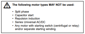Single Phase Motors - Don't use these