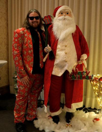 Alec with Santa