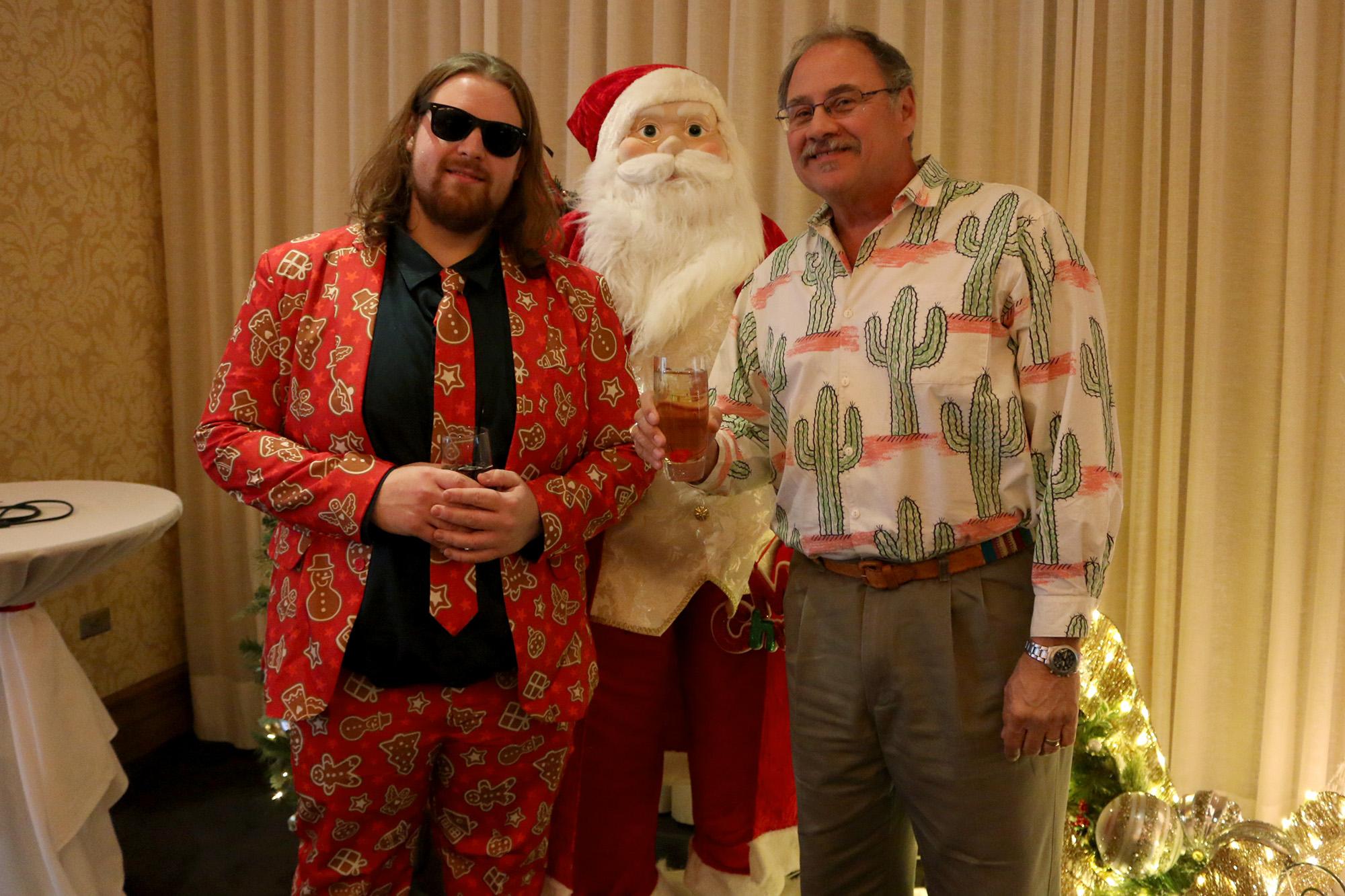 Alec, Santa & Fred
