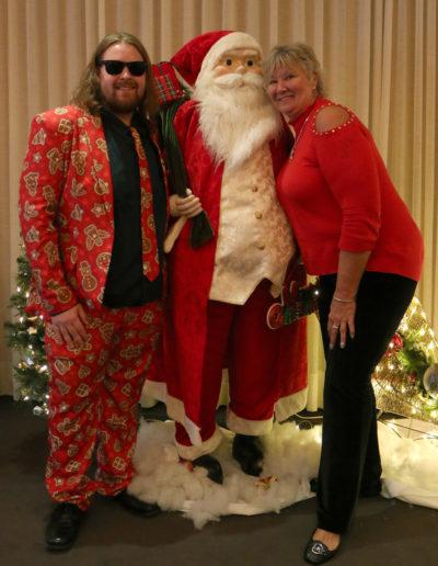 Alec, Santa & Kathy