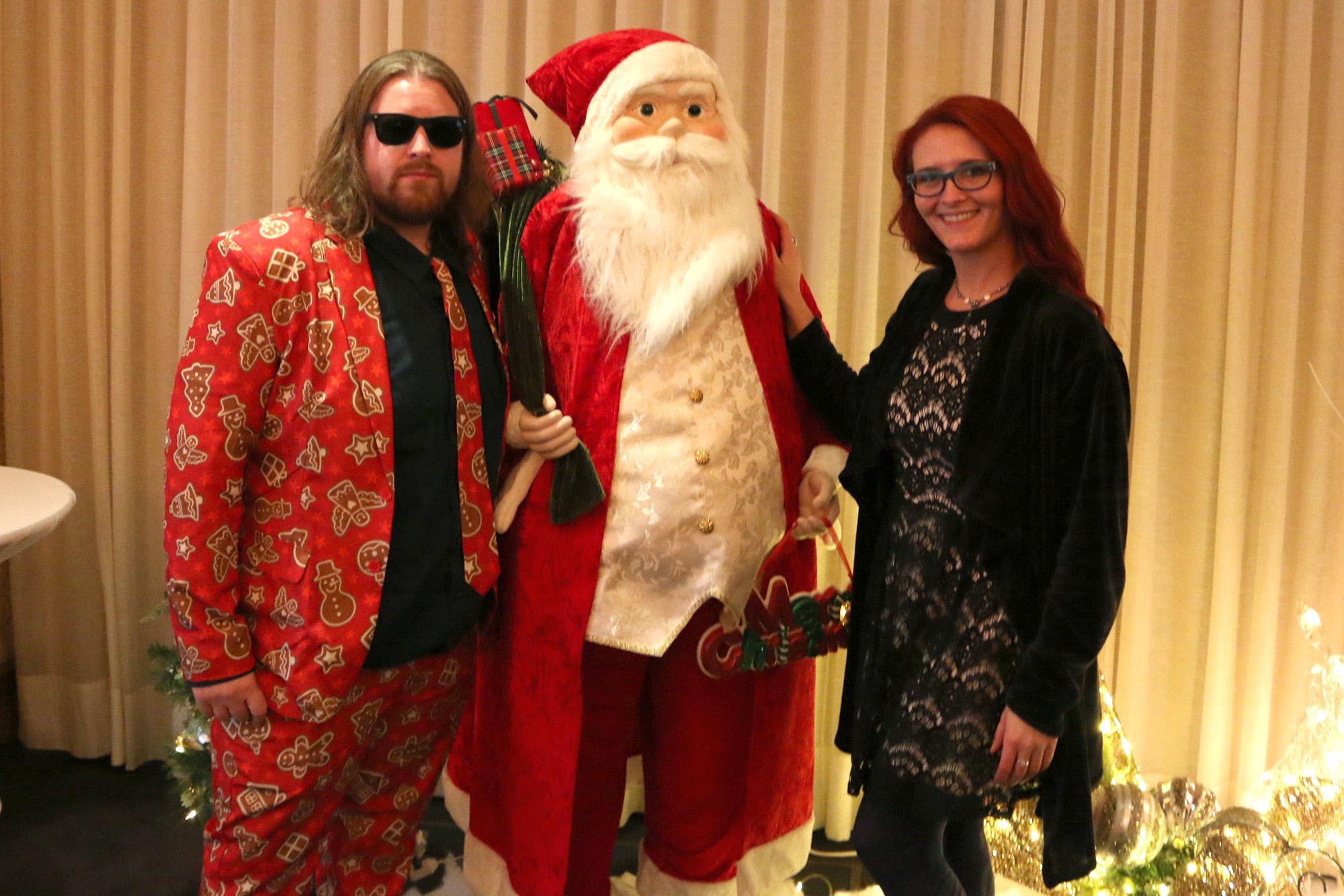 Alec, Santa & Morgan