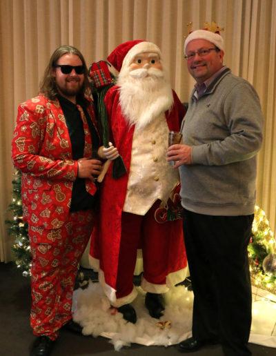 Mike, Alec & Santa
