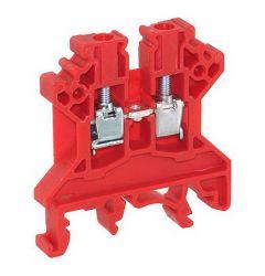 CTS4U-N/R Terminal Block, 6x45x43mm, 35 Amp, 600V, Red,Feed