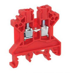 CTS2.5U-N/R Terminal Block, 5x45x43mm, 25A, 600V, Red Feed Thr