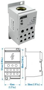 38019 Power Distribution Block, One Phase, 400 Amp,Singl