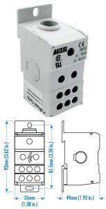 38032 Power Distribution Block, One Phase, 160 Amp,Singl
