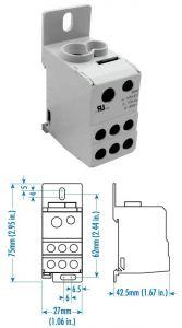 38041 Power Distribution Block, One Phase, 115 Amp,Singl