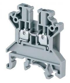 CTS4U-N Terminal Block, 6x45x43mm, 35 Amp, 600V, Gray,Feed