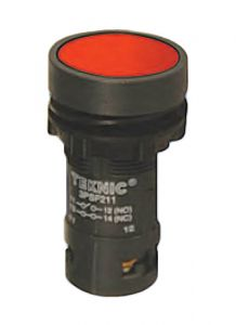 3PSF401 Pushbutton, Economy, 22mm, Momentary, FlushRed, 1N