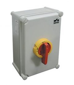 KEM380UL Y/R Disconnect Switch, Enclosed, 80 Amps, Non-Fusible,