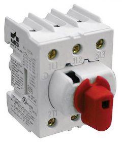 KU316N Disconnect Switch, Direct Handle, 3 pole, 16 Amp