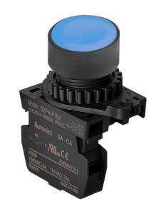 S2PR-P1BA Pushbutton, Ø22mm, Spring Return, Blue,NO, 110VAC/