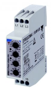 DPB52CM44 Monitoring Relay, 3-Phase, 208-480V, 17.5mm Width,