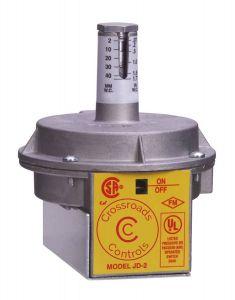 """JD2 GREY Air Switch, 801111302 - Grey Spring.1-4"""" w.c. 3-10"""
