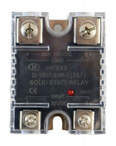 HFS33/D - KIT SSR w/ Touchsafe Cover Mounted, 4-32VDC Input, 20A