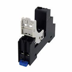 SJ1S-07LW Relay Socket, SPDT, 1 pole, Finger Safe Use with R