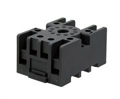 SR3P-05C Socket, 11-Pin, DIN Rail Mount, Finger Safe Use wi