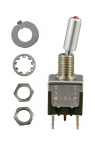 M2112TCW01 Toggle Switch, SPDT, 6A (AC), 125V, On-On,Illumina