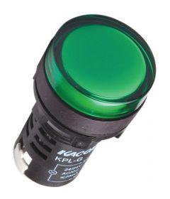 KPL-G-12V AC/DC Pilot Light, Ø22mm, Round, Green LED, 12VAC/DC,IP6