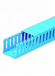 """T1-3050B Wire Duct, Open Slot, Blue, 3 x 5"""" (W x H), 36' pe"""