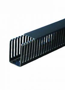 "T1-3050K Wire Duct, Open Slot, Black, 3 x 5"" (W x H), 36' p"