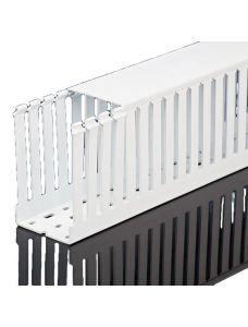 """T1-3050W Wire Duct, Open Slot, White, 3 x 5"""" (W x H), 36' p"""