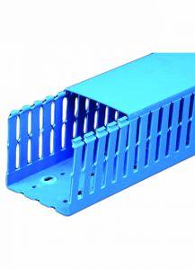 """T1-4030B Wire Duct, Open Slot, Blue, 4 x 3"""" (W x H), 48' pe"""