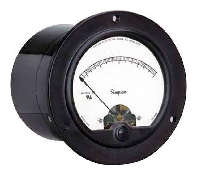 Simpson Electric Panel Meter 57Md 0-50 ACA 3.5 Ul Rect Model 1210