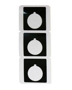 30mm Custom Legend Plate, Black w/White Letters