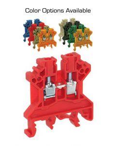 Terminal Block, 6x45x43mm, 35 Amp, 600V, Red