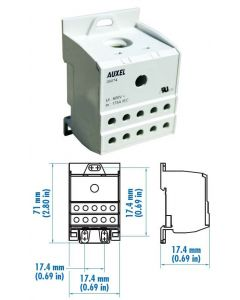 Power Distribution Block, One Phase, 175 Amp