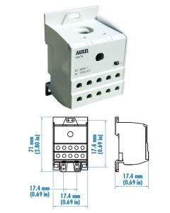 Power Distribution Block, One Phase, 115 Amp
