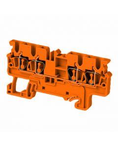 Terminal block, orange standard