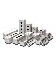 Enclosure, PB/Switch Box, √ò22mm,  ABS, 4 Hole