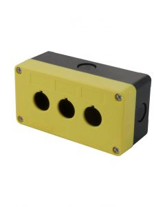 Pushbutton Enclosure, 22mm, 3 Hole, ABS Plastic