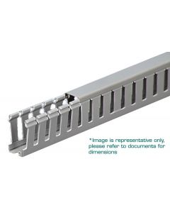 """Wire Duct, Open Slot, Grey, 1/2 x 5/8"""" (WxH)"""