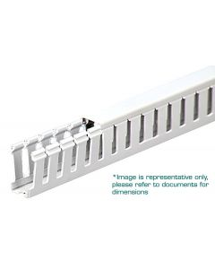 """Wire Duct, Open Slot, White, 1/2 x 5/8"""" (WxH)"""