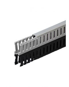 """Wire Duct, Gray, 1""""W x 1""""H, Open Slot"""