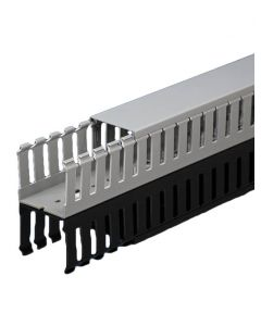 """Wire Duct, Open Slot, Grey, 2.25 x 2.25"""" (WxH)"""