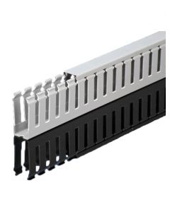 """Wire Duct, Open Slot, Grey, 1 x 2.25"""" (WxH)"""