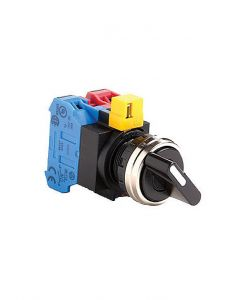 Selector Switch, 22mm, Metal, 3 Position