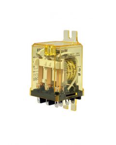 Power Relay, 120VAC, 3PDT, Blade, Side Flange