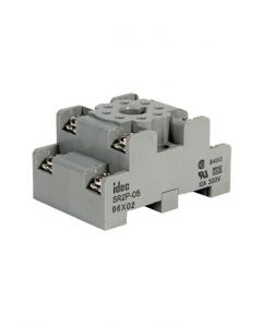 Socket, 8-Pin, DIN Mount, Dual Tier, Screw Term,