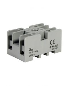 Socket, 8-Pin, DIN Mount, Fingersafe