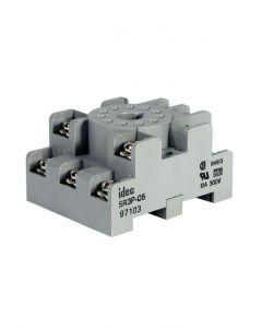 Socket, 11-Pin, Screw Terminal, DIN Rail Mount